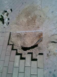 Localizada averia cable enterrado11
